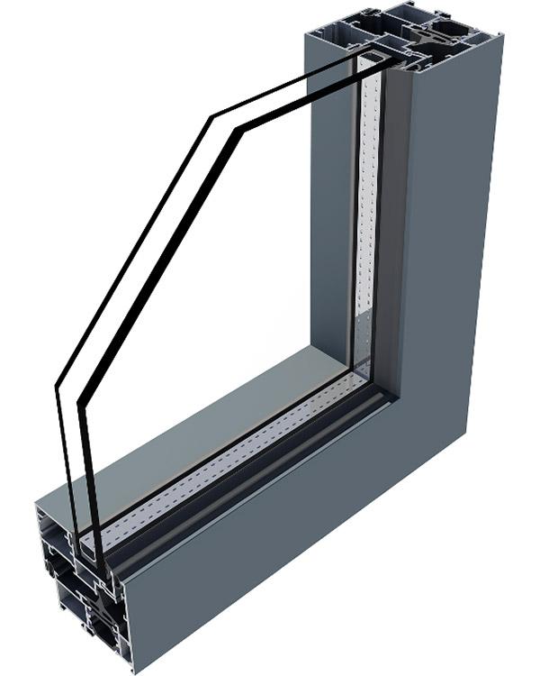 Simar-Fabricante-Aluminio-Portas-PVC--Aluminio-Sistema-Batente- RT-60 Folha Oculta