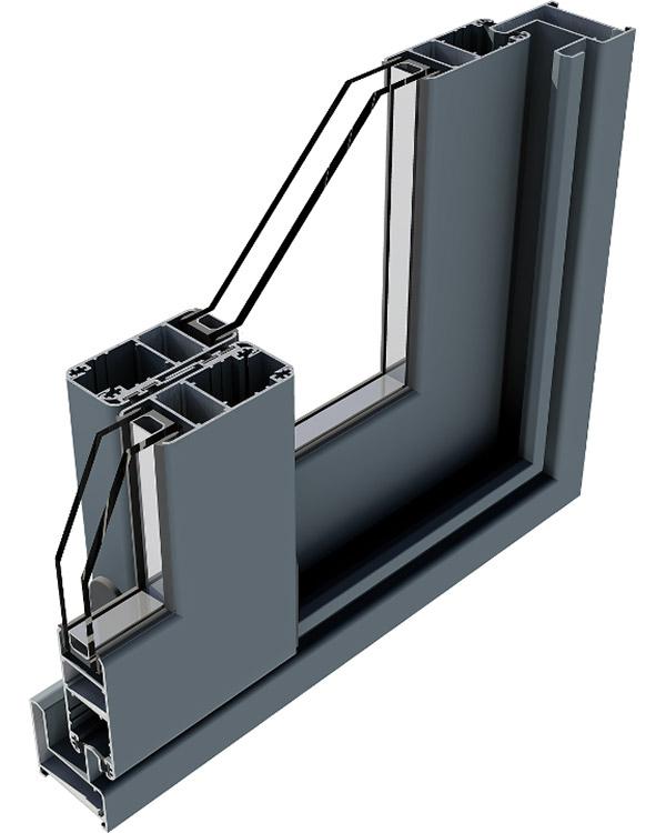 Simar-Fabricante-Aluminio-Portas-PVC--Aluminio- Sistema de Correr GFN-Slide