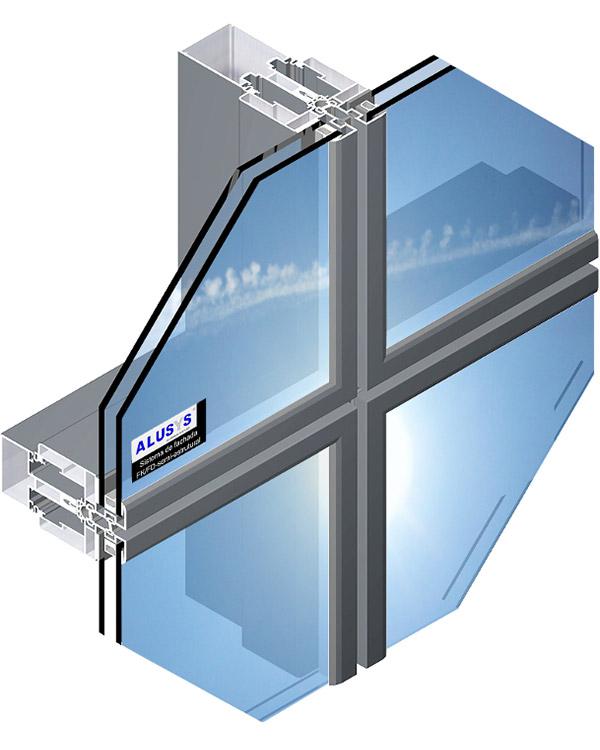 Simar-Fabricante-Aluminio-Portas-PVC--Aluminio- Sistema de Fachadas FK/FD Semi-Estrutural VEB