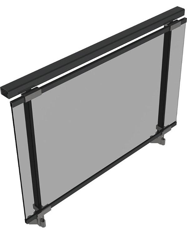 Simar-Fabricante-Aluminio-Portas-PVC--Aluminio- Sistema de Gradeamentos de Vidro Alusy