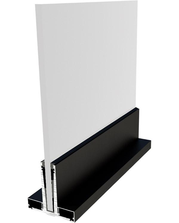 Simar-Fabricante-Aluminio-Portas-PVC--Aluminio- Sistema de Gradeamentos de Vidro Sialnor
